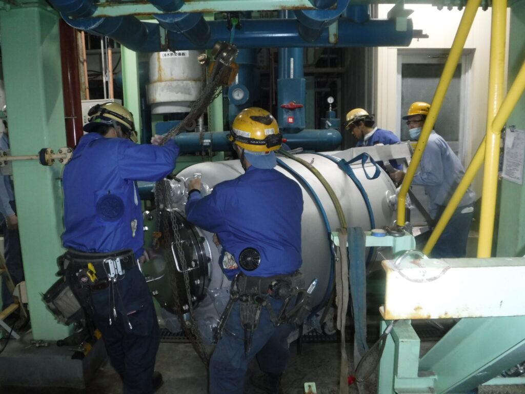 500kgタンク据付工事